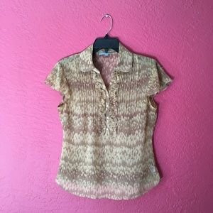 Antonio Melani Sheer Short Sleeve Size 6 Top